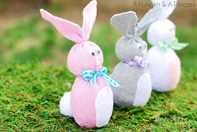 Как сделать кролика из ткани и ваты - ВИРЕС