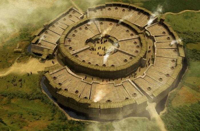 Укрепленное поселение бронзового века, которое было обнаружено совсем недавно.