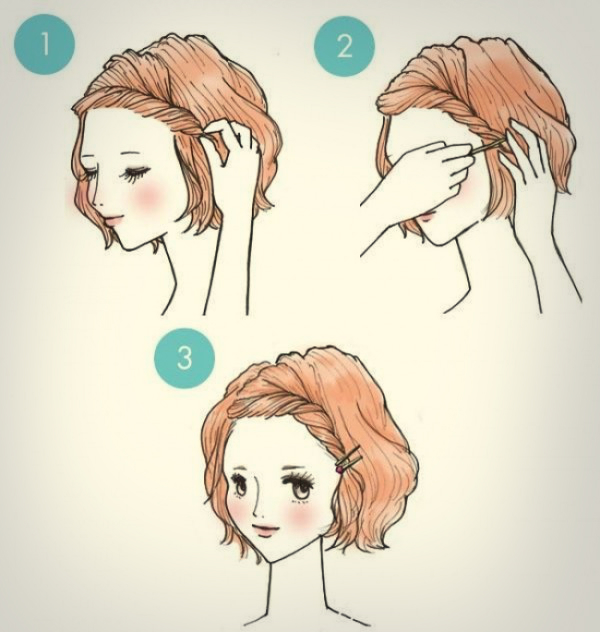 Прически на короткие волосы легко и быстро своими руками