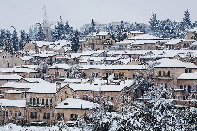 Так выглядит зима в Иерусалиме Израиль, красиво, красивые места, природа, страны, страны мира, фото, фотограф