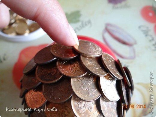 Бонсай топиарий Мастер-класс Моделирование конструирование Мк  Денежное дерево  Монета фото 10