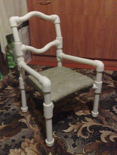 Детский стул из полипропиленовых труб
