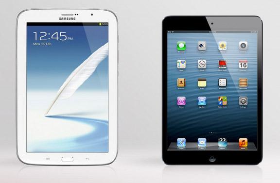 iPad mini против Samsung Galaxy Note 8.0