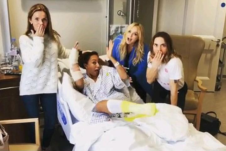 Экс- солистка Spice Girls попала в больницу с поломанными ребрами после бурной ночи в клубе