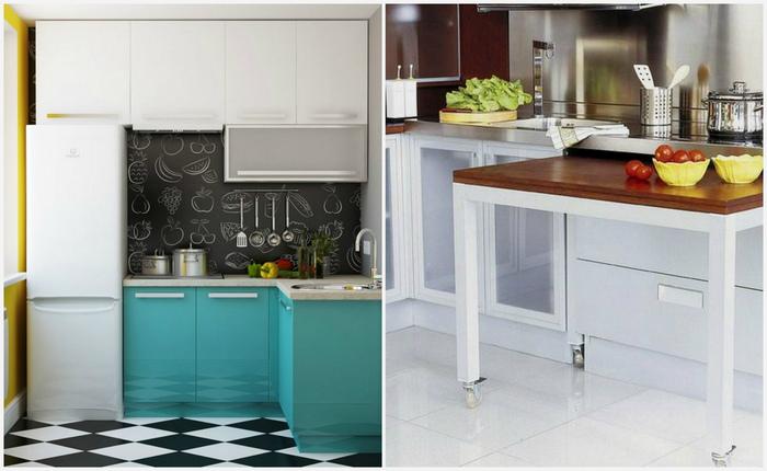 7 приёмов для «расширения» маленькой кухни, которые подействуют даже на 4 кв метрах