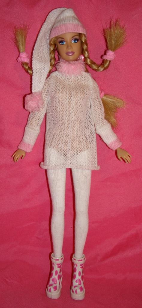 Одежда для кукол. Розовое и белое. Коллекция от Лизы.