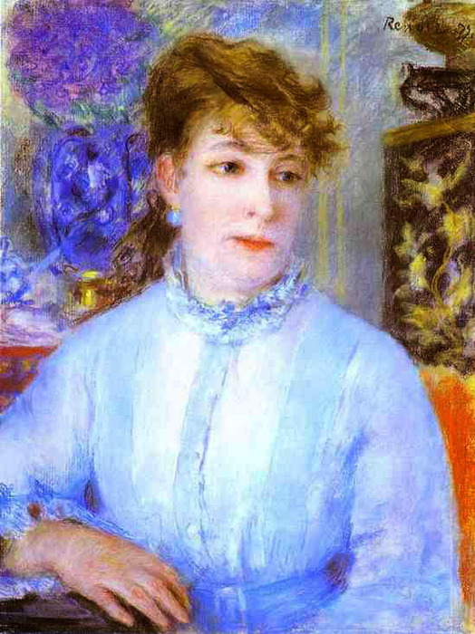 Pierre-Auguste Renoir - Portrait of a Woman. (Portrait de femme) (524x700, 136Kb)