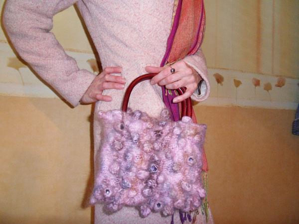 Вязаная сумка шибори, сибори, shibori