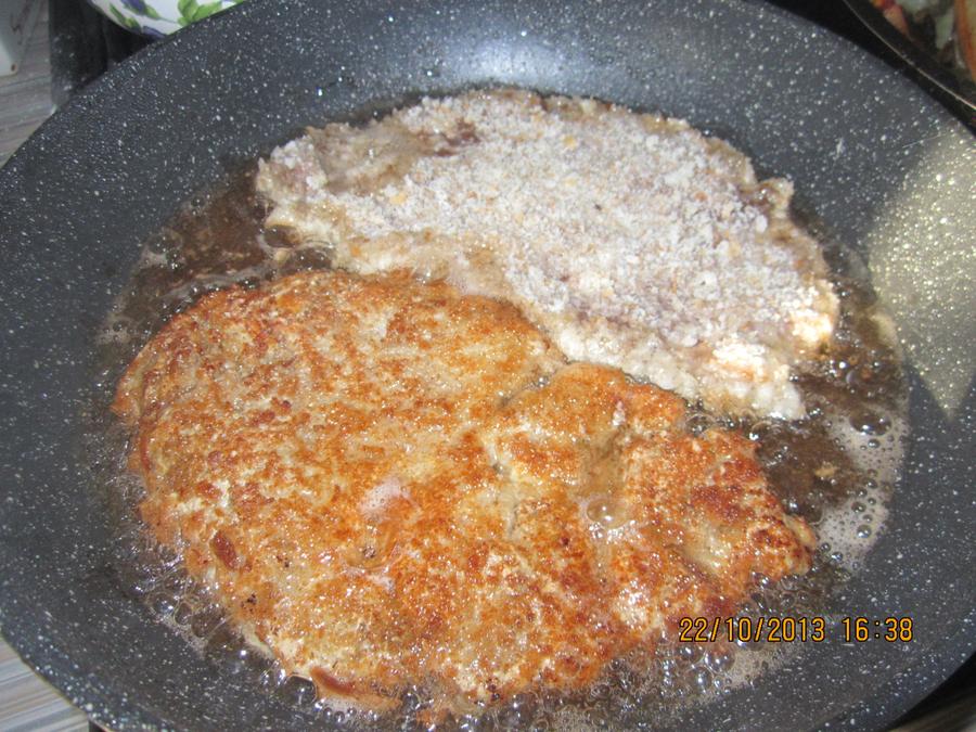 Печень с Pommes fondantes (тающий картофель)