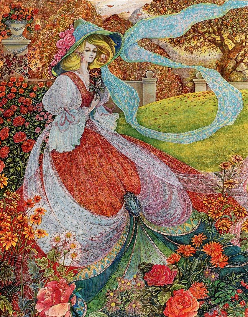 Сказка в картинах от британской художницы — иллюстратора Pamela Colebourn.