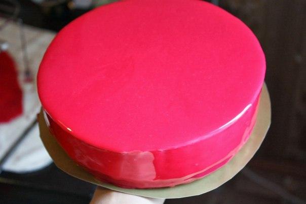 Бисквит с зеркальной глазурью рецепт пошагово