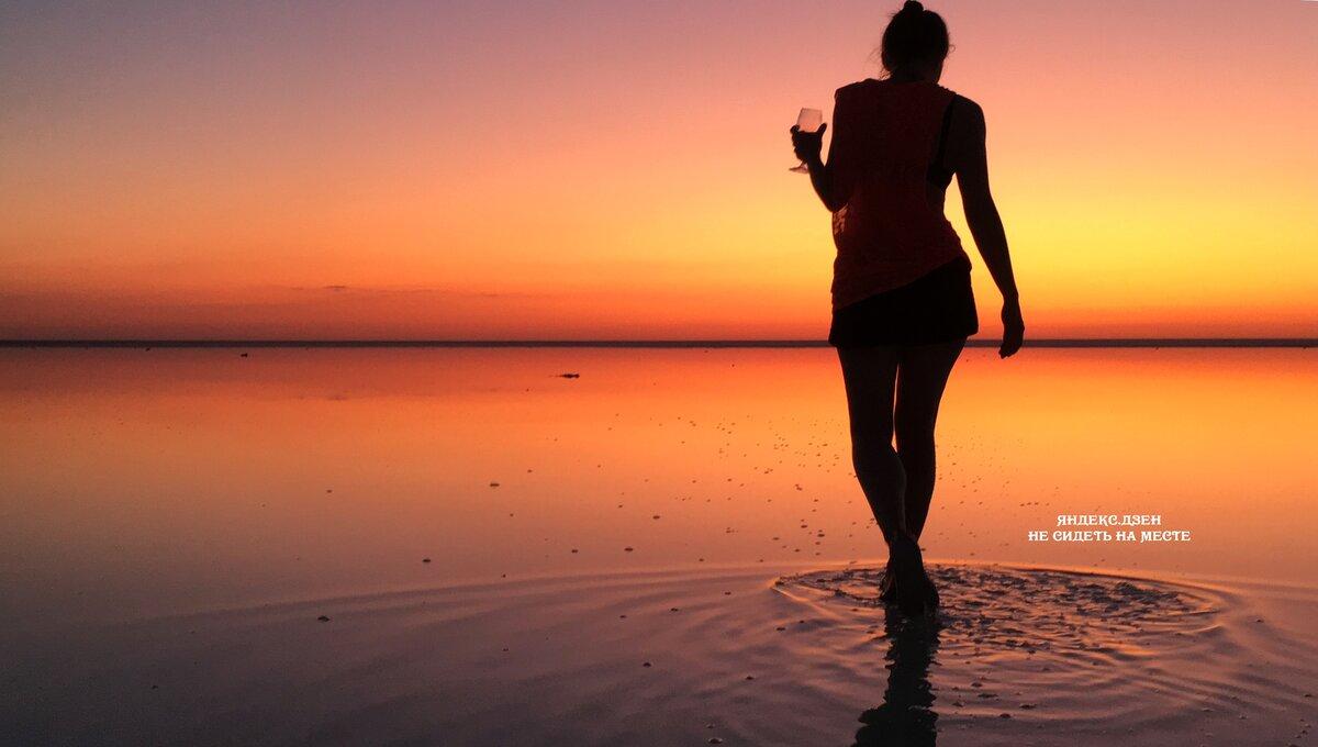 Закат на озере Эльтон. Зрелище, которое вы не забудете
