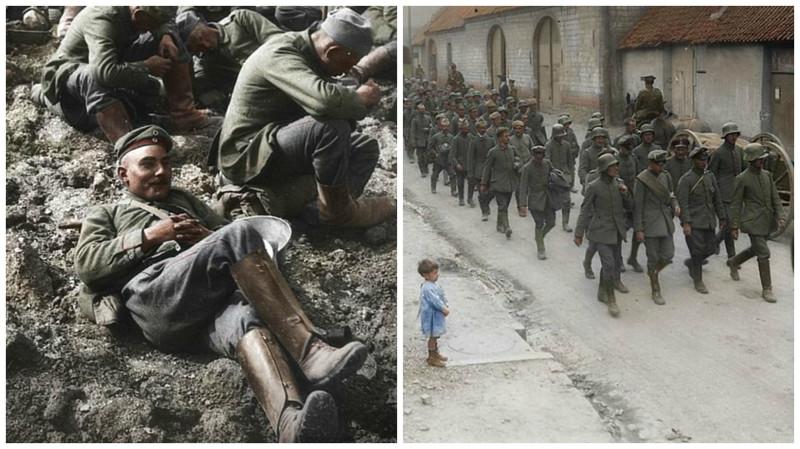 Немецкие военнопленные: фотографии времен Первой мировой в цвете