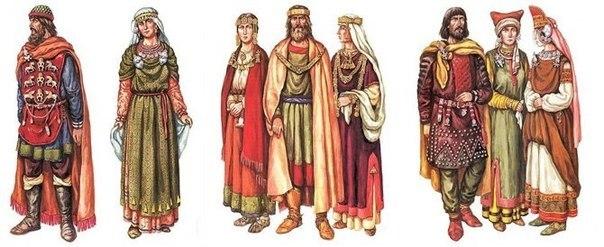 Подборка книг по древнерусской одежде.