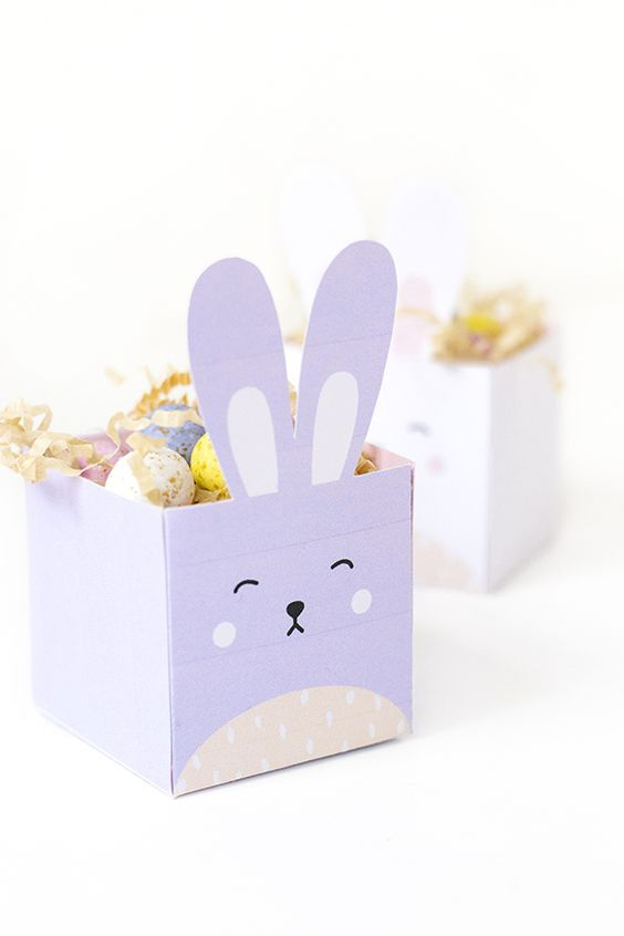 Крольчья упаковка (шаблон)