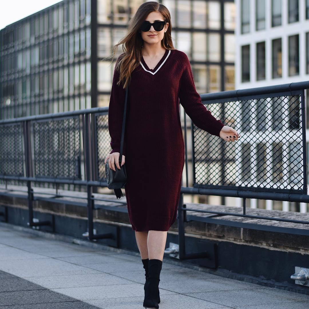Как носить платье зимой: 10 ярких примеров