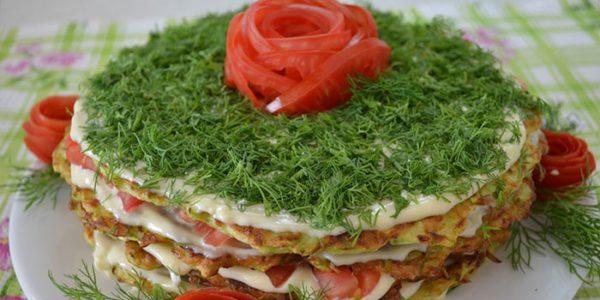 Кабачковый торт с сыром