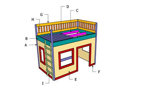 блок-схема домика