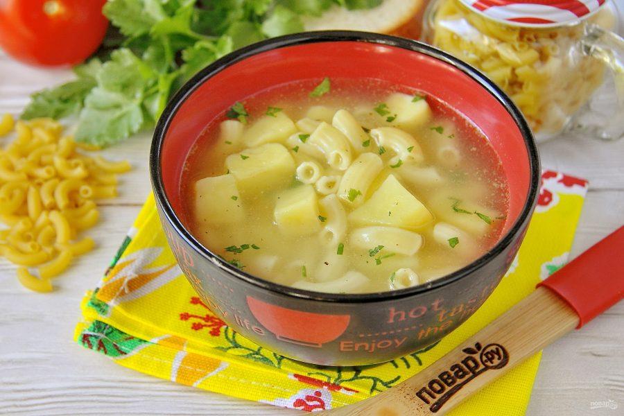 Суп с картошкой и макаронами