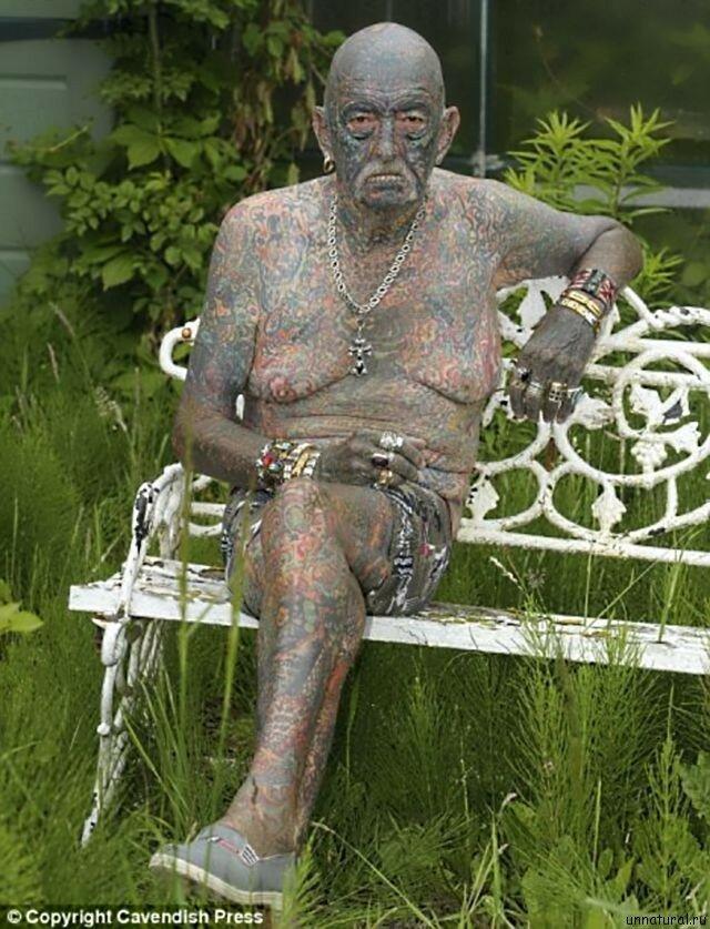Самый татуированный в мире пожилой мужчина: Томми Уэллс интересное, люди, пожилые, странные, тату, факты, что творят