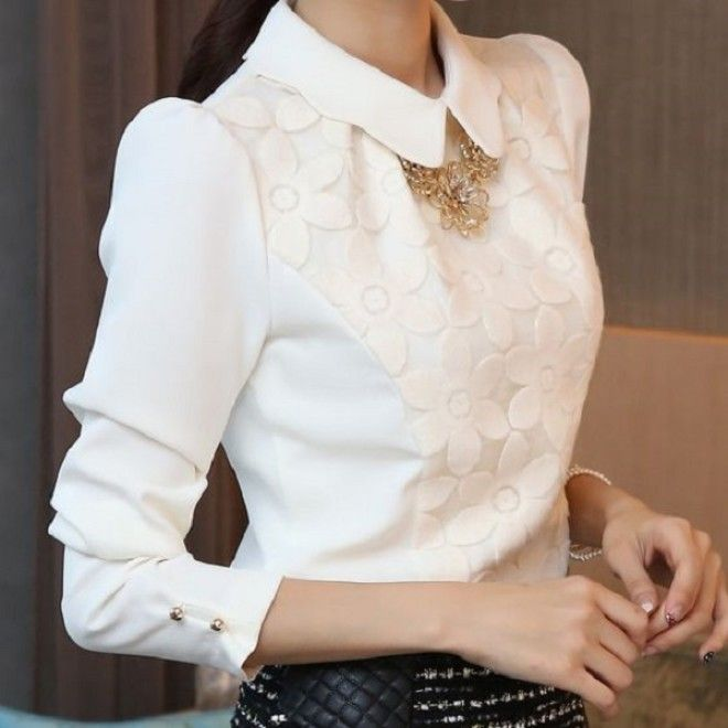 белая блузка фото