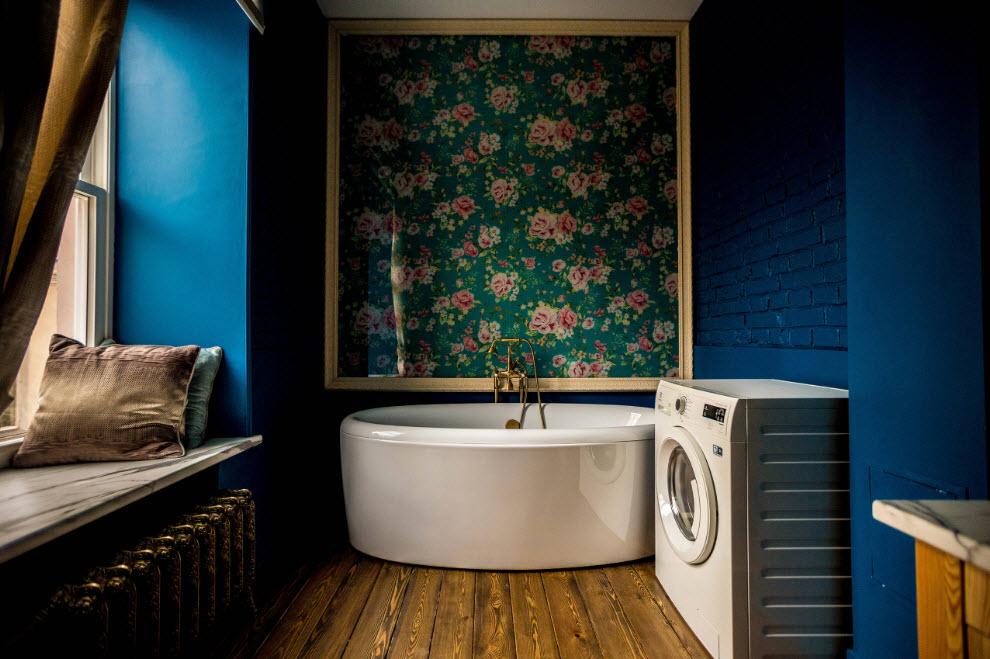 Колоритная отделка ванной