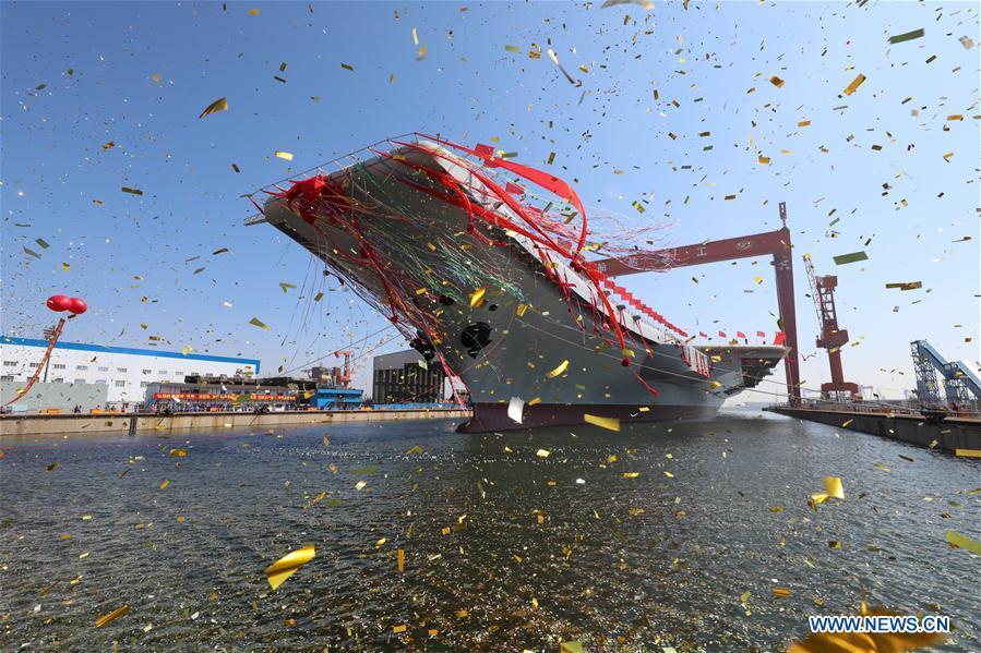Спущен на воду второй китайский авианосец