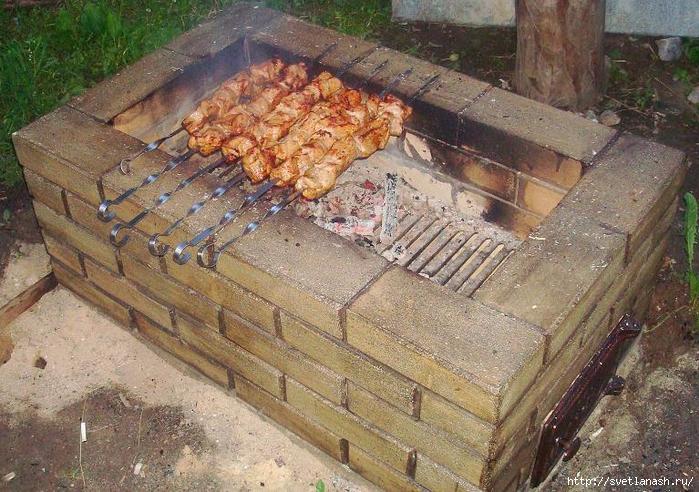 Простая печь барбекю из кирпича своими руками фото