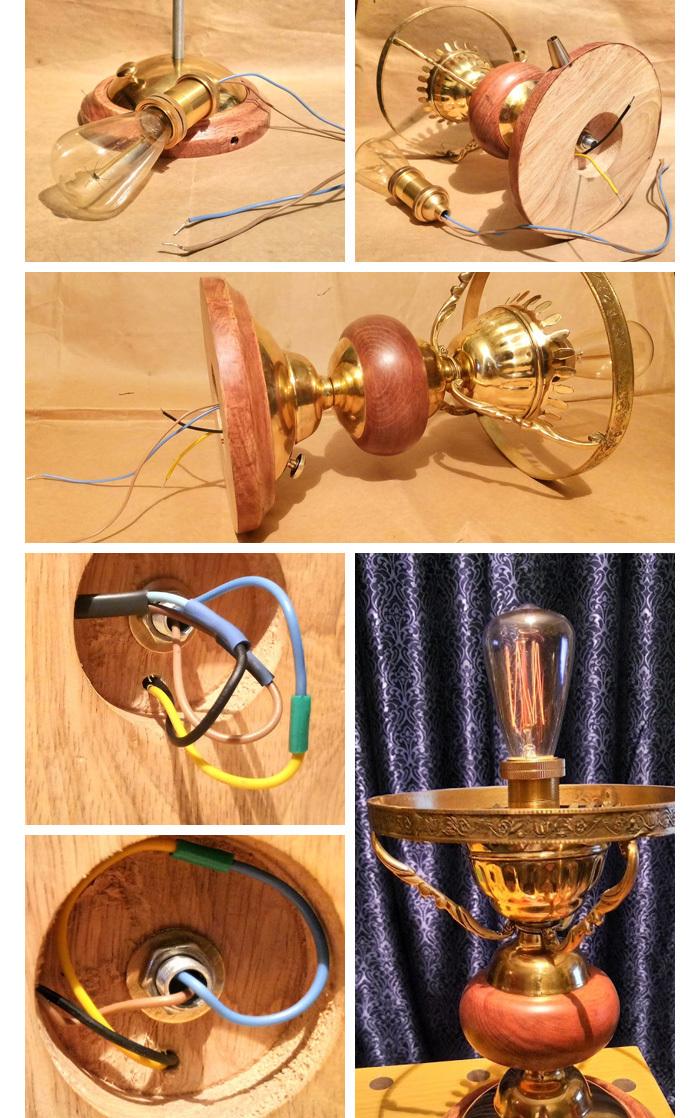 Винтажная настольная лампа Настольная лампа, Винтаж, Длиннопост, Рукоделие с процессом, Самоделки