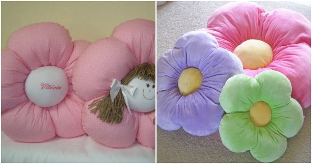 Сделайте уютную вещь для дома: объёмная и красивая подушка-цветок