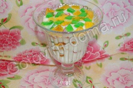 Десерт Мозаика из сметаны