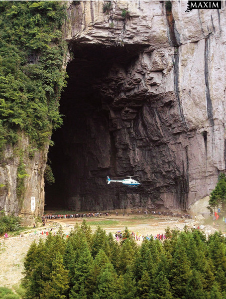 Пещерные летчики в Китае