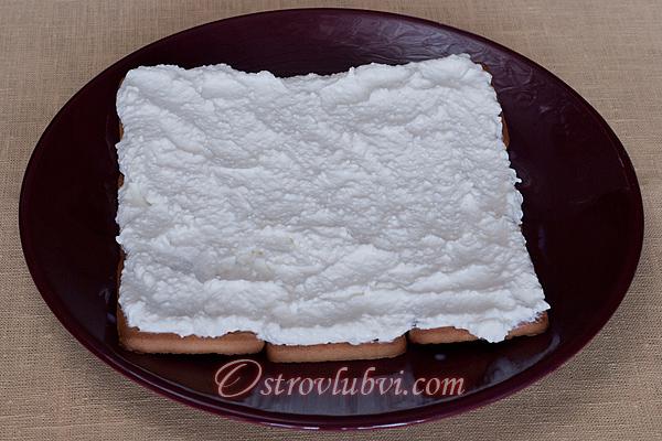 Торт из печенья и творога 5