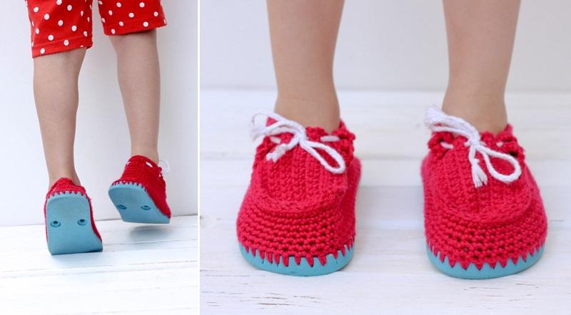 вязаная обувь своими руками