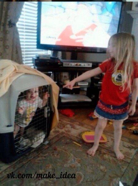 Не стоит оставлять детей без присмотра. Как правило, они находят чем заняться