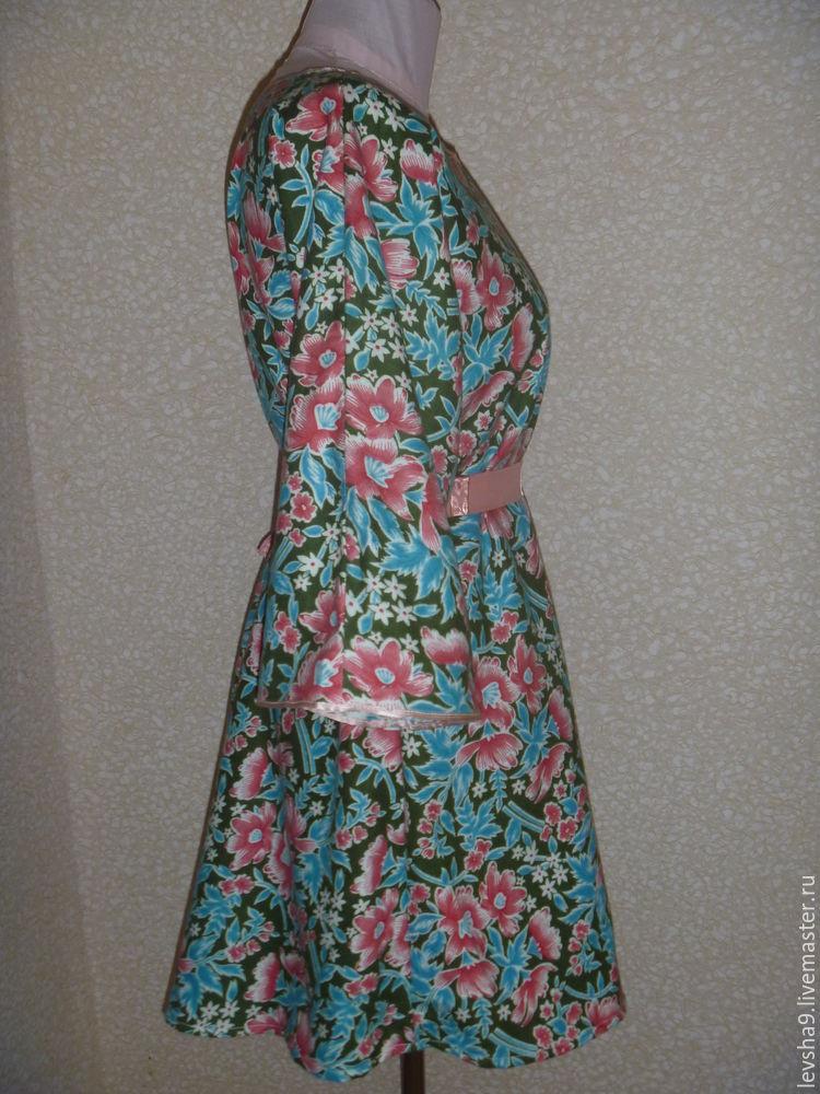Платье без выкройки за 1 час (с двумя мерками)