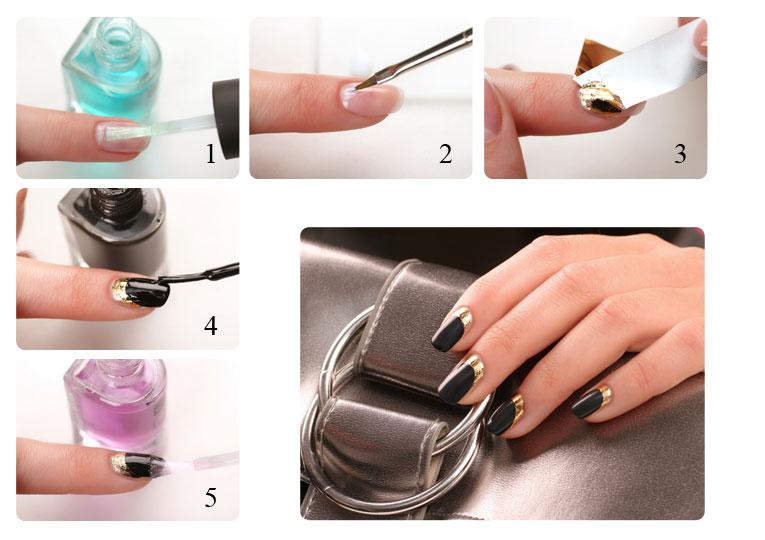 Зеркальные ногти как сделать с помощью порошка