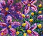 Цветочная картина мастихином: Поляна Таинственный ЦВЕТОВ