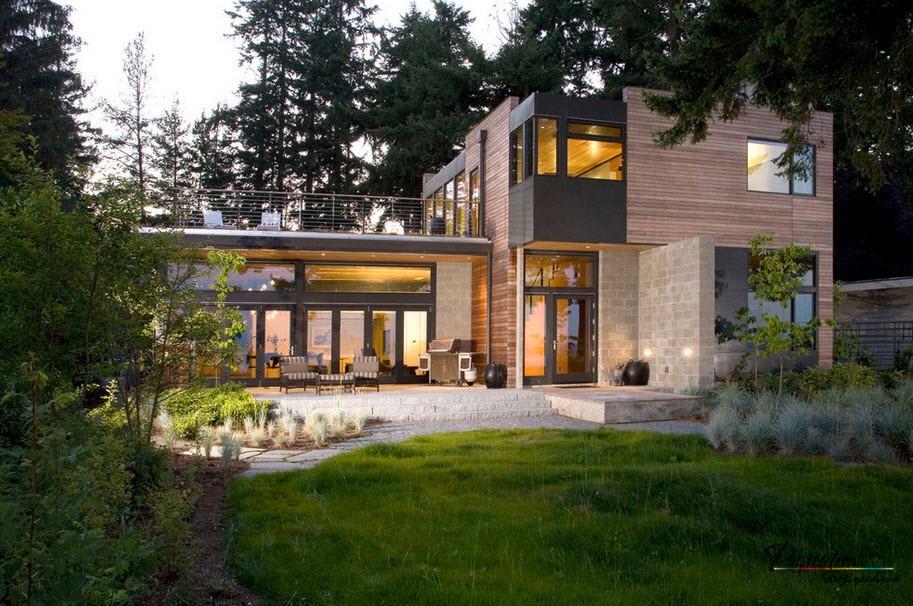 Хороший проект дома, расположенного в лесу