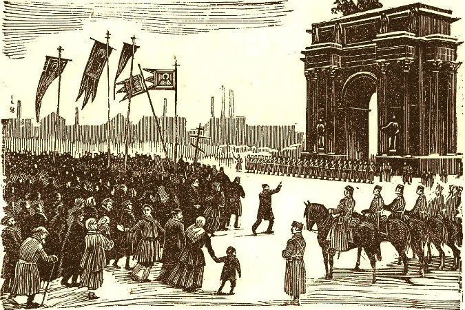 """""""Кровавое"""" воскресенье - 9 января 1905 года (по новому стилю 22 января)"""
