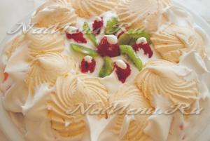 торт из зефира со сливками
