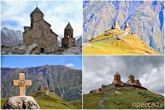 Грузия: великолепный храм Пресвятой Троицы Гергети