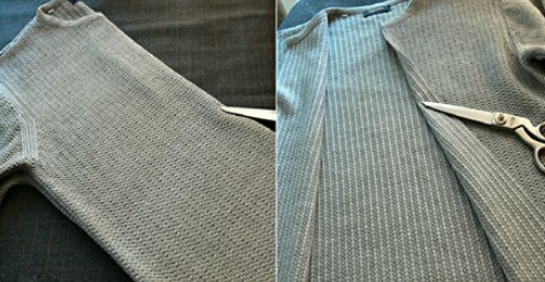 Суперидея для барышень с фантазией: пара надрезов на старом свитере — неповторимый наряд готов! Не раз видела такое в магазине…