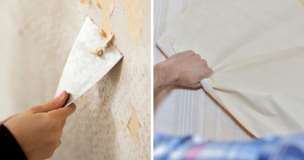 Зная парочку хитростей, старые обои можно снять со стен за считаные минуты