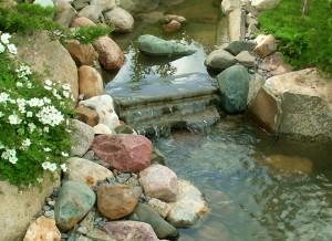 как сделать красивый водопад на даче