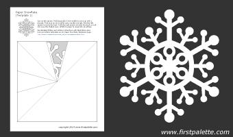 Как сделать трафарет снежинки из бумаги