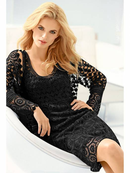Шикарное вечернее платье из мотивов
