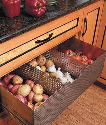 где хранить овощи на кухне