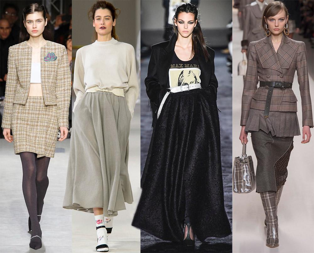 Модные теплые юбки осень-зима 2018-2019
