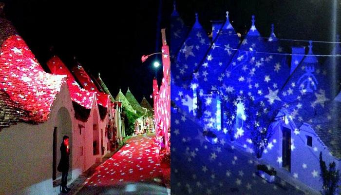 В период Рождества в Альберобелло проходит фестиваль света.
